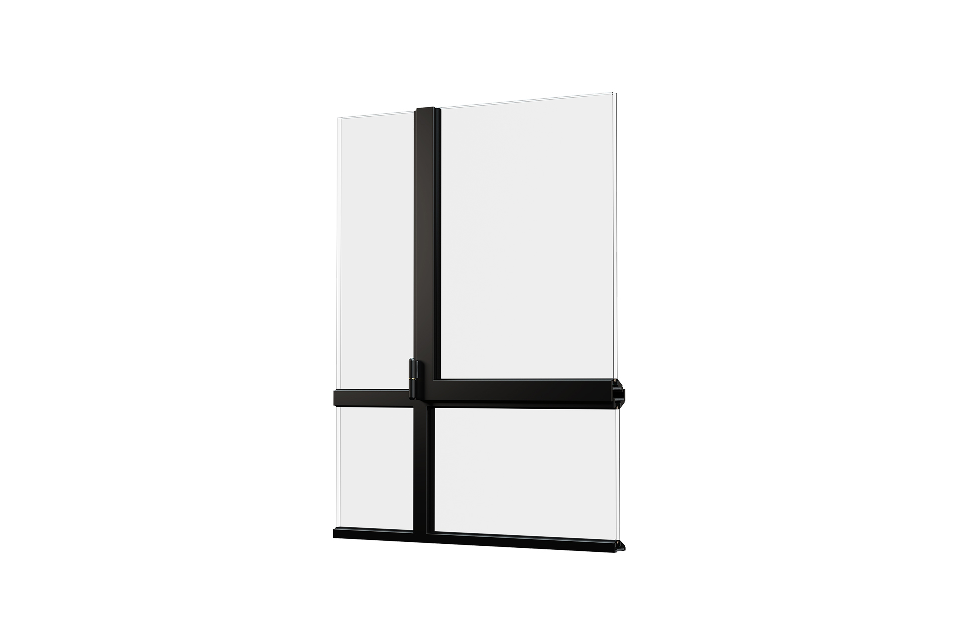 3D model of the CLASSIC-ISO profile system in a mondriaan shape, front view