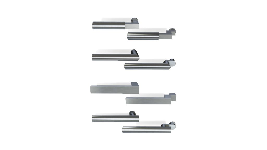 3d rendering overview of MHB steel handles