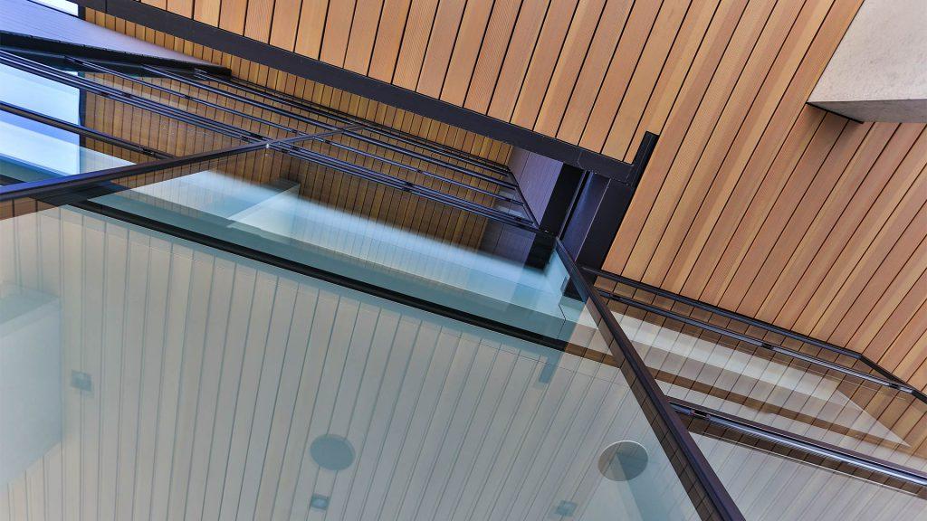 Steel glass wall