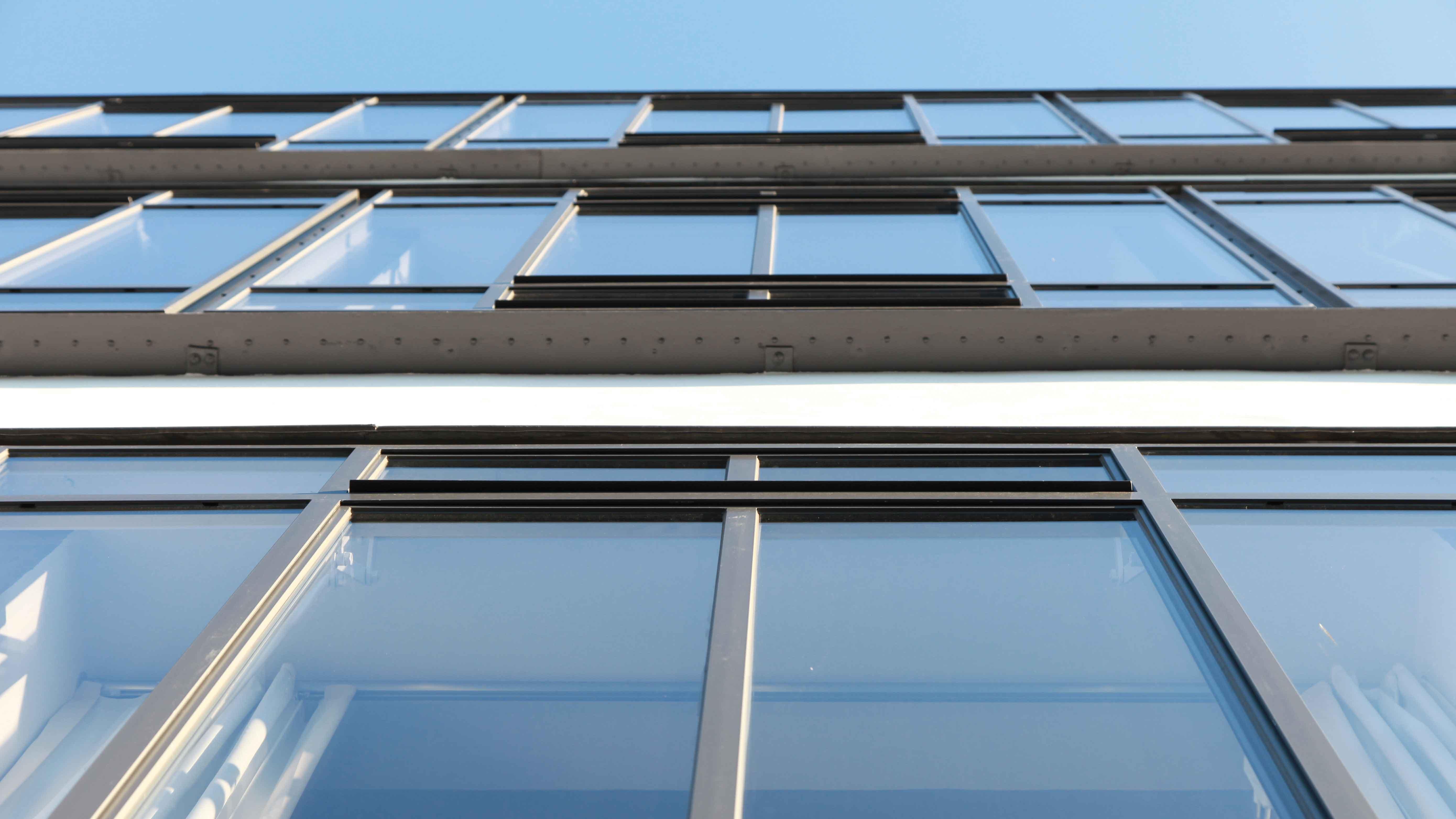 Bauhaus Dessau Atelier north facade with steel glazed windows