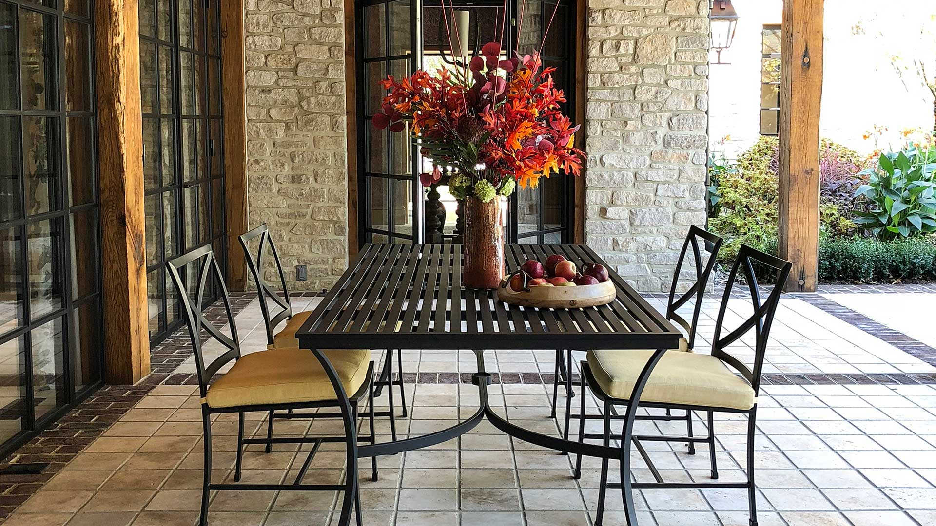 A fabulous outdoor dining table