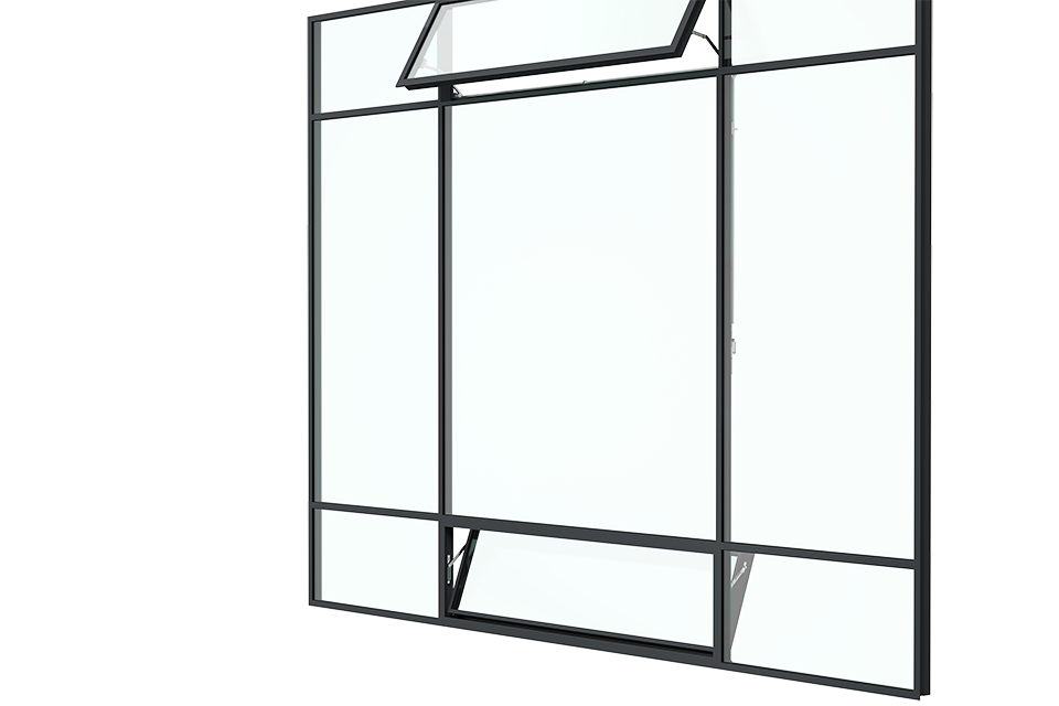MHB steel awning & Hopper Window sideview 3ds