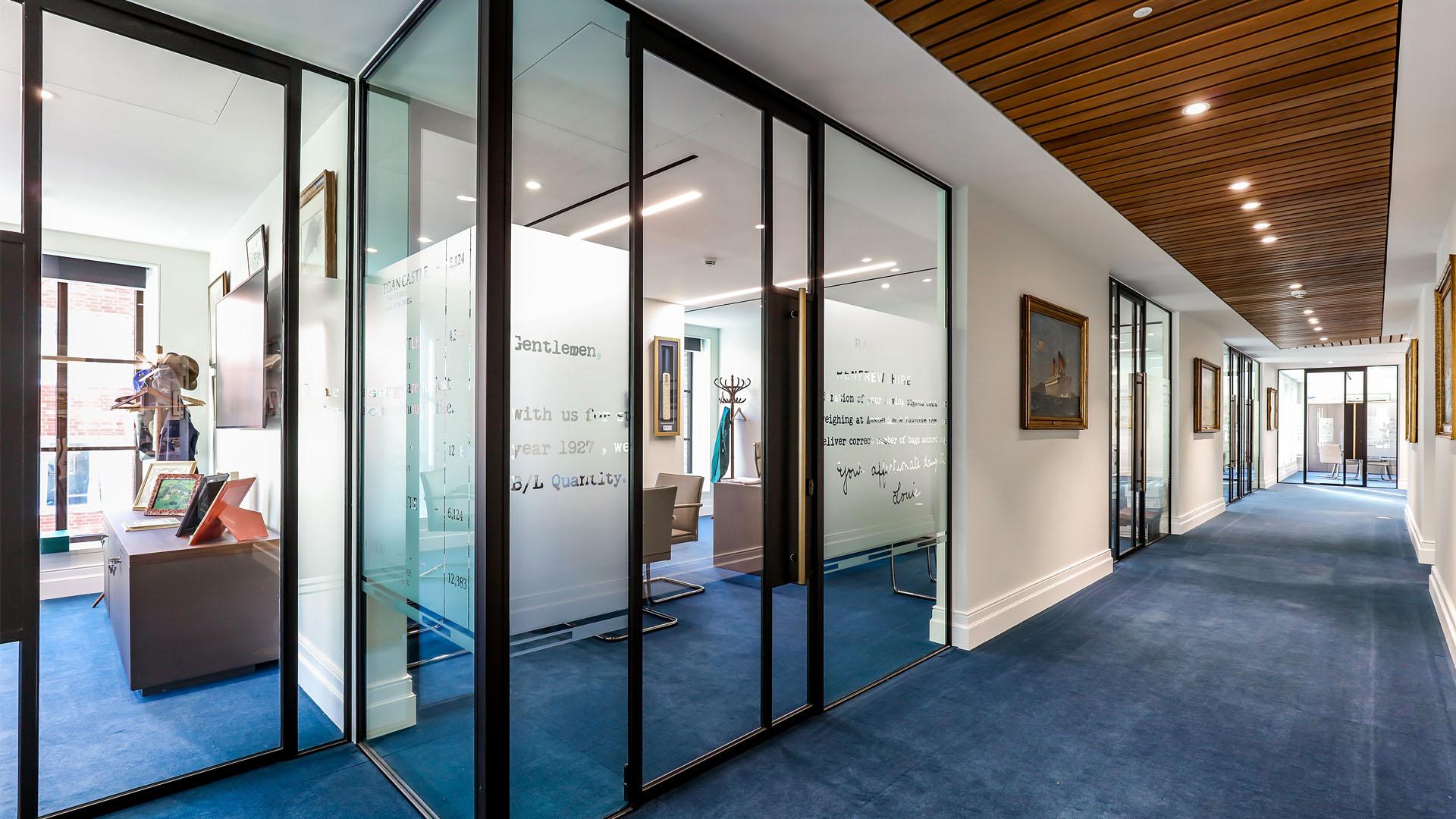 Stylish glazed doors indoors