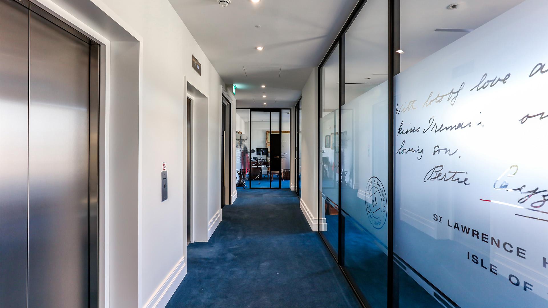 Beautiful glazed doors indoors
