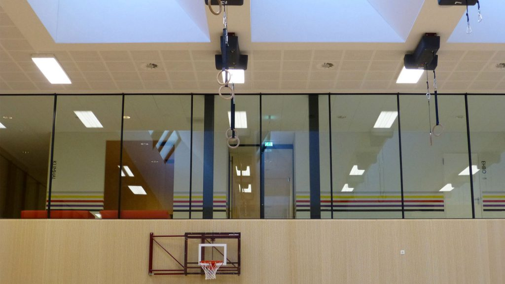 Steel glazed windows in the Fontys Sport high school in Eindhoven, the Netherlands