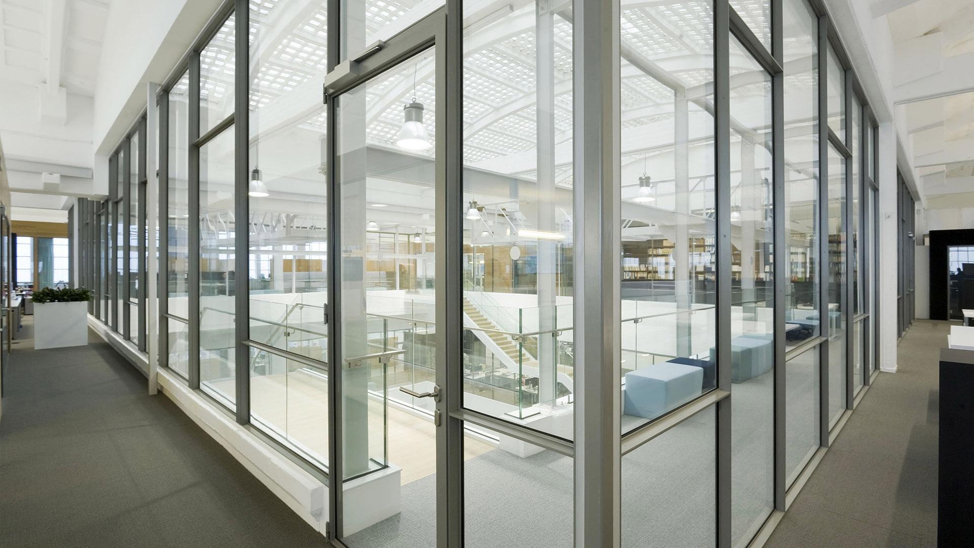 Steel glazed indoor windows