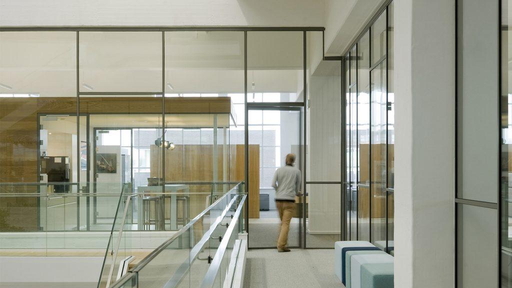 Steel glazed doors in the Gusto MSC, schiedam, the Netherlands