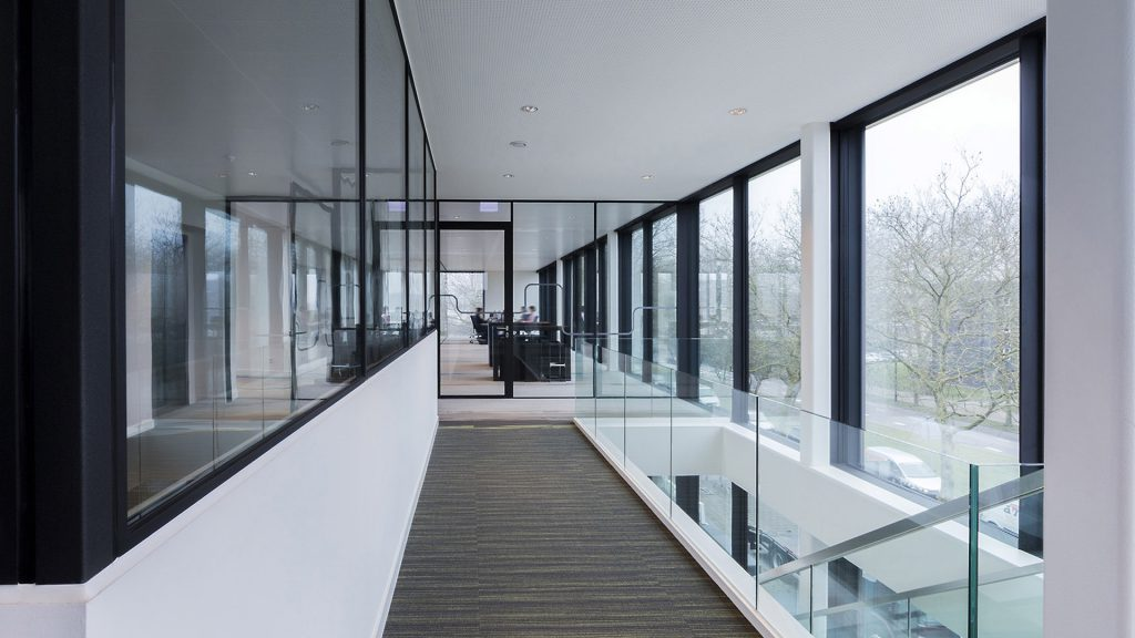 MBS-R Locking system for doors with hallway in the rabobank office building, Geldrop, the Netherlands
