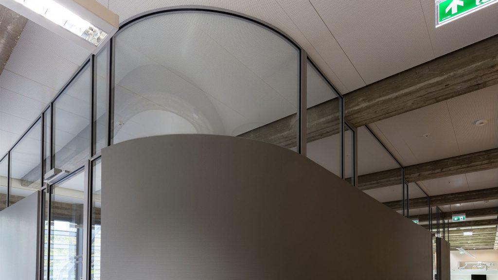 Steel windows in a school
