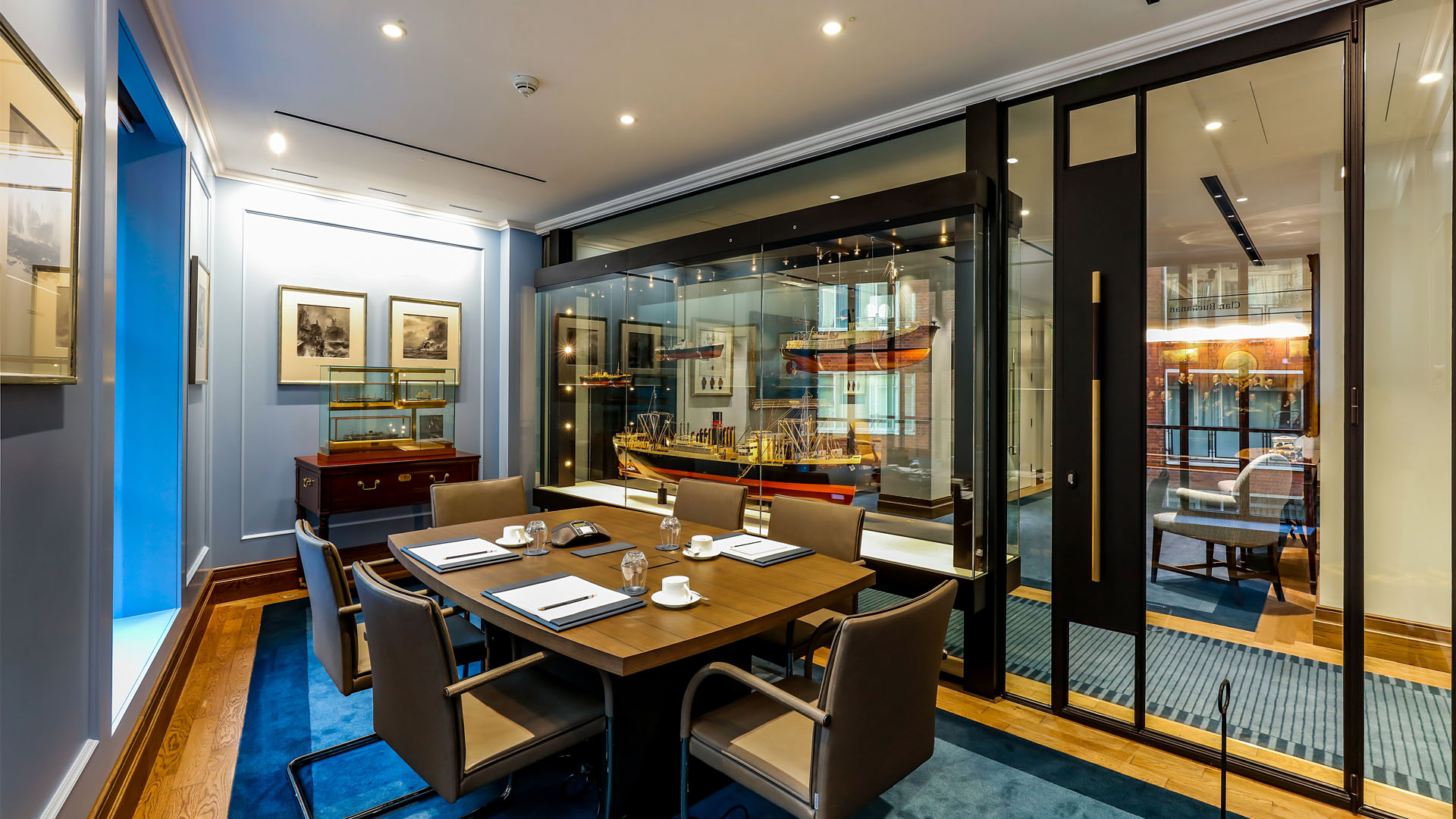 Steel glazed windows and doors indoors at the Cayzer House, Buckingham Gate, United Kingdom