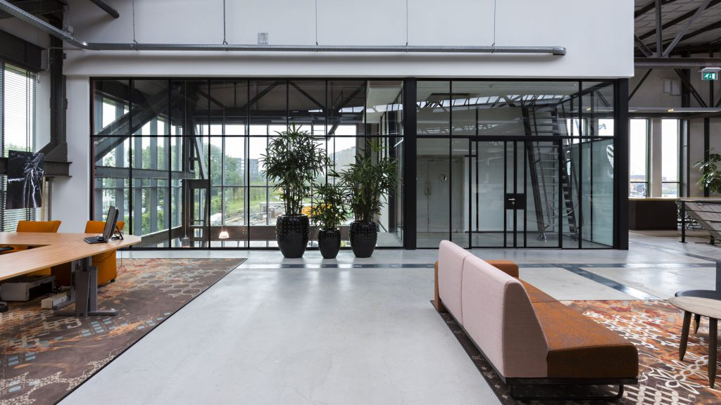 Steel glass partitions by MHB in RDM werf, Rotterdam, The Netherlands