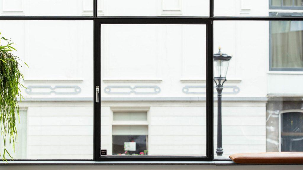 Tilt and turn steel window in Utrecht