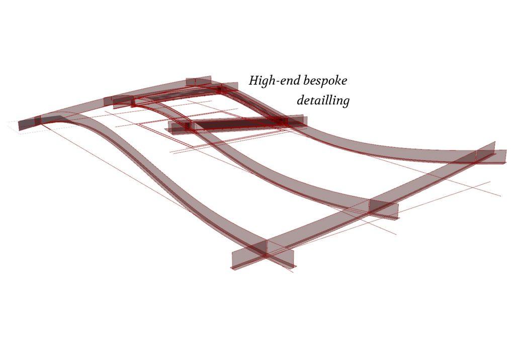 MHB Freeform facade concept in 3d visual tekening