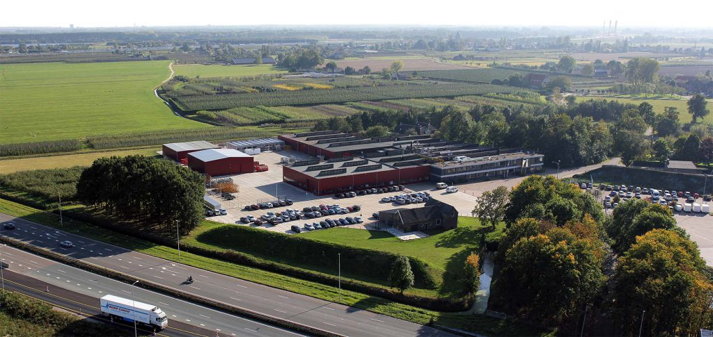 Overview of the headquarters of MHB in Herveld, the Netherlands